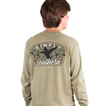 Simply Southern Camo Duck Unisex Comfort Colors Long Sleeve T-Shirt
