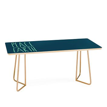 Leah Flores Peace On Earth Type Coffee Table