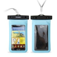 "DandyCase Blue Waterproof Case for Apple iPhone 5, Galaxy S4, HTC One, iPod Touch 5 - Also fits other Large Smartphones up to 5.3"" Including Galaxy S3, HTC One X/X+, Droid RAZR/MAXX, Nexus 4, EVO 4G LTE, Droid Incredible, LG Optimus G, Nokia Lumia, Droid D"