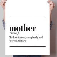 Mother Dictionary Definition Print
