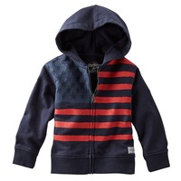 OshKosh B'gosh American Flag French Terry Hoodie - Boys