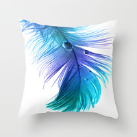 Blue Blue Electric Blue Throw Pillow by Ally Coxon