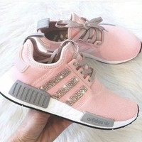 shosouvenir Adidas NMD Fashion Glittering Breathable Running Sports Shoes Sneakers