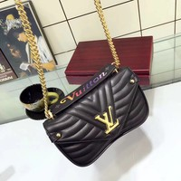 Louis Vuitton latest embroidery leather shoulder bag