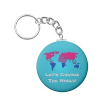 Bisexuality pride world map Keychain