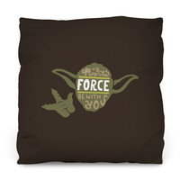 May the Force Throw Pillow