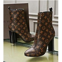 LV Louis Vuitton Popular Women Casual Lace Up Shoes