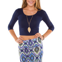 Lani Crop Top - Navy