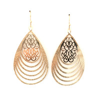 Waves Of Love Earrings In Gold