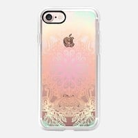 Vintage Fancy - Tropical Pastels on Transparent iPhone 7 Case by Micklyn Le Feuvre | Casetify