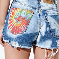 The Laundry Room Tie Dye Scalloped Shorts at PacSun.com