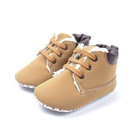 Boys Shoes Toddler 0-18 Months Kid Winter Plush Boots