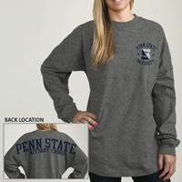 Mobile | Penn State Ladies: LEAGUE RA RA JERSEY LS TEE from Lions Pride - GRAY