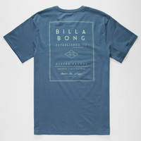 Billabong Divide Mens T-Shirt Royal  In Sizes