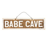 Babe Cave Wooden Sign