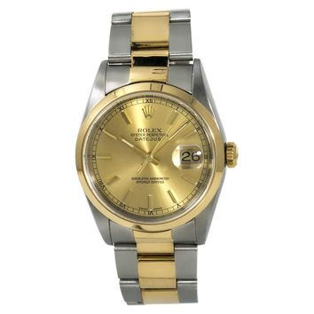 Rolex Datejust Automatic-self-Wind Male Watch 16203 (Certified Pre-Owned)