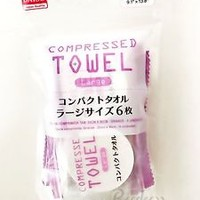 NEW!100% DAISO JAPAN Travel Compressed Towel Large (6pc) Travel Outdoors Towels