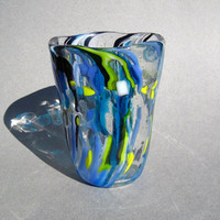 Hand Blown Glass Vase One of a kind work of art ooak
