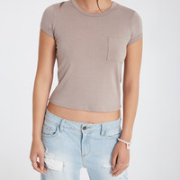 Solid Baby Tee With Pocket   Wet Seal