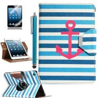 ULAK 360 Degree Rotating Synthetic Leather Case Cover for Apple iPad Mini 1/2/3 with Auto Sleep/Wake Function (Stay)