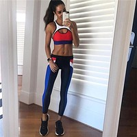 Yoga Autumn Hot Sale Women's Fashion Stylish Patchwork Sportswear Set [83148865551]