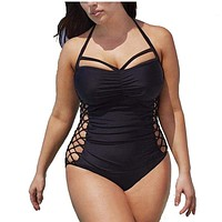 New Design Bandage One Piece Swimming Suit For Women