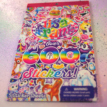 Mega Lisa Frank Stickers Booklet, Over 600 Stickers / Lisa Frank Stickers Book, Lisa Frank Sticker Set, 90s Stickers, Pastel Goth Collection