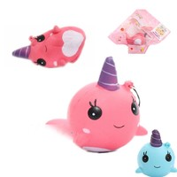 1 pcs Kawaii Anti-stress Squishy Mini Pink Blue Unicorn Scent Squeeze Very Slow Rising Rebound Toy Soft Doll Gifts