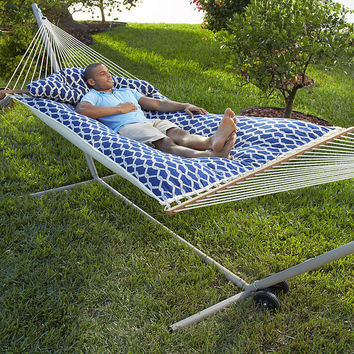 Tufted Hammock with Stand Kit at Brookstone—Buy Now!