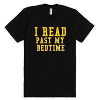 I Read Past My Bedtime-Unisex Black T-Shirt