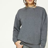 Fleece Raw-Cut Sweatshirt