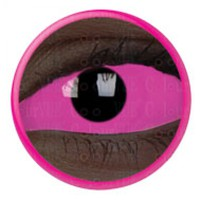 ColourVue Pink UV Glow Scleral Full Eye Coloured Contacts