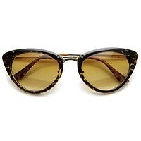 Womens 1950's Mod Vintage Inspired Redesign Cat Eye Sunglasses 9454