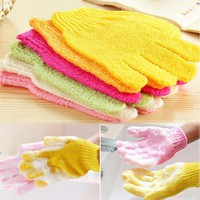1 Pcs Fashion Random Color Shower Exfoliating Wash Skin Spa Foam Massage Scrubber Bathing Gloves