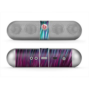 The Pink & Blue Vector Swirly HD Strands Skin for the Beats by Dre Pill Bluetooth Speaker