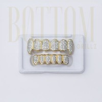 Vampire Grillz Top (14k Gold Plated CZ)