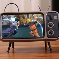 True Wireless TV Stand Design Bluetooth Speakers with Microphone Phone Holder