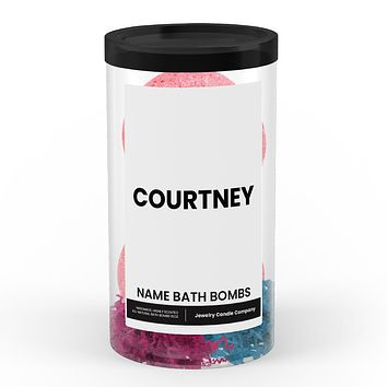 COURTNEY Name Bath Bomb Tube