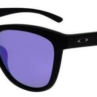 OAKLEY 9320 09 MOONLIGHTER MATTE BLACK VIOLET IRIDIUM POLARIZED SUNGLASSES