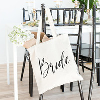 Bride Tote Bag, Tote Bag, Canvas Bag, Canvas Tote Bag, Bridesmaid Tote, Bridal Tote, Wedding Tote, Bridesmaid Gift, Bridal Party Gift, Gifts