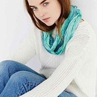 Dip-Dye Nubby Eternity Scarf- Turquoise One