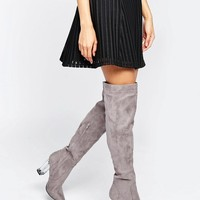 Daisy Street | Daisy Street Clear Heeled Over The Knee Boots at ASOS