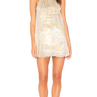 Free People Ghost Mini Dress in Neutral | REVOLVE