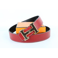 Hermes belt men's and women's casual casual style H letter fashion belt401