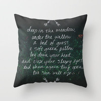 Rue's Song (Hunger Games) Throw Pillow by Leah Flores | Society6