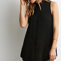 Longline Side-Slit Shirt