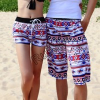 couple beach surf board summer swim sports shorts for women men shorts pants X43