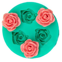SuperDeals 3D Rose Flower Silicone Chocolate Fondant Cake Candle Soap Molds Moulds HI = 5658095745