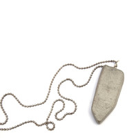Statement necklace, Geometric shape concrete pendant necklace. Unisex necklace for her or  for  him. Urban style, edgy fashion jewelry.