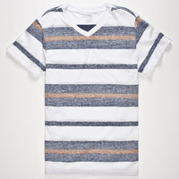 Blue Crown Freeport Stripe Mens T-Shirt Blue  In Sizes
